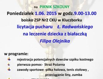 Piknik szkolny dla Filipa Olejnika